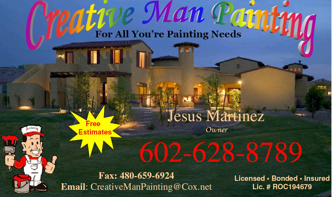 Creative Man Painting  Scottsdale Phoenix paradise Valley Carefree